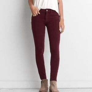 AEO sateen jegging size 2